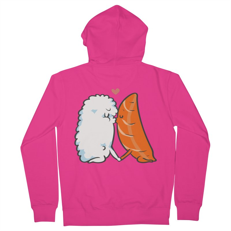 Sushi Kisses Men's French Terry Zip-Up Hoody by huebucket's Artist Shop