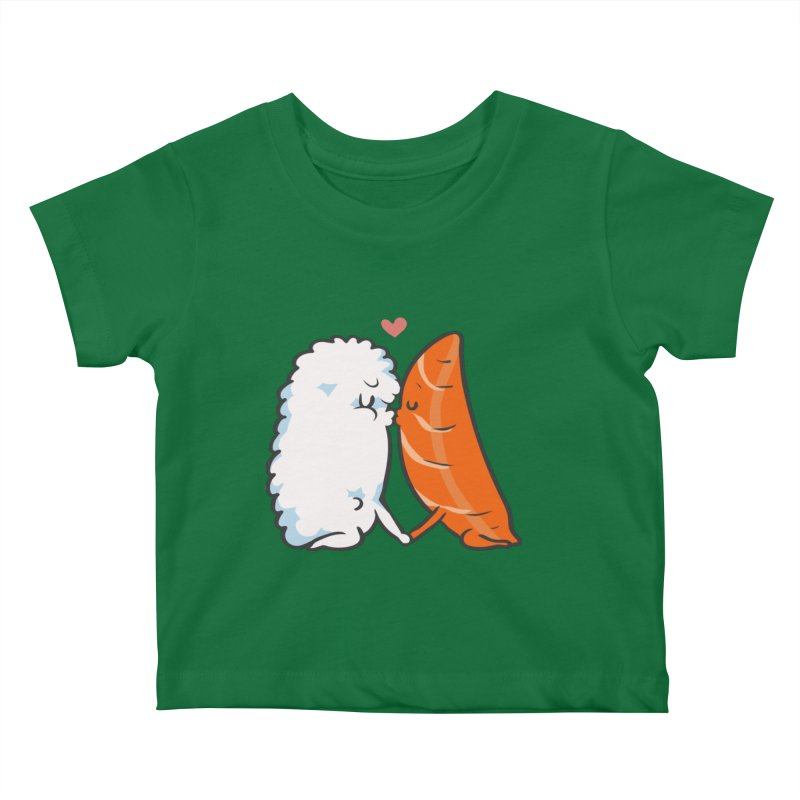 Sushi Kisses Kids Baby T-Shirt by huebucket's Artist Shop