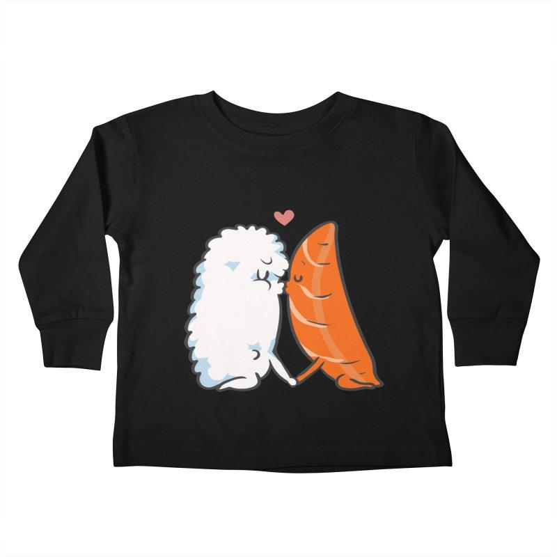 Sushi Kisses Kids Toddler Longsleeve T-Shirt by huebucket's Artist Shop