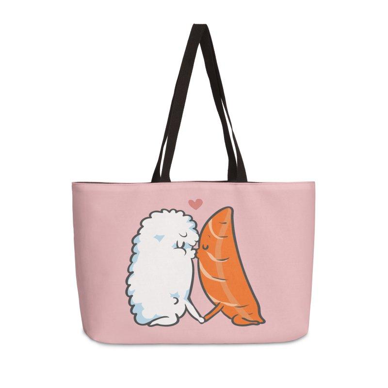 Sushi Kisses Accessories Weekender Bag Bag by huebucket's Artist Shop