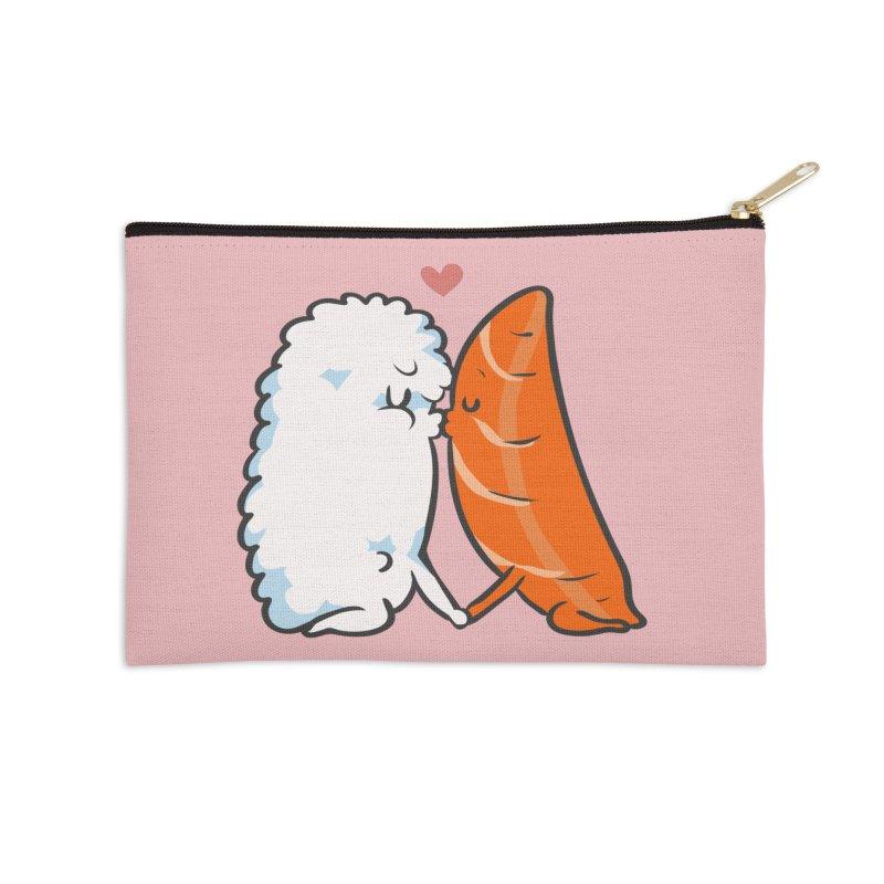Sushi Kisses Accessories Zip Pouch by huebucket's Artist Shop