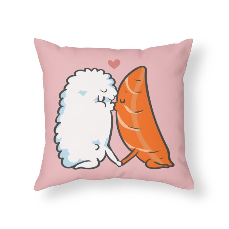 Sushi Kisses Home Throw Pillow by huebucket's Artist Shop