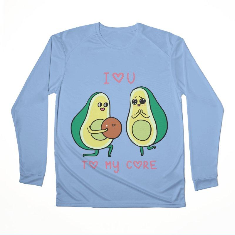 Love U to My Core Avocado Men's Performance Longsleeve T-Shirt by huebucket's Artist Shop