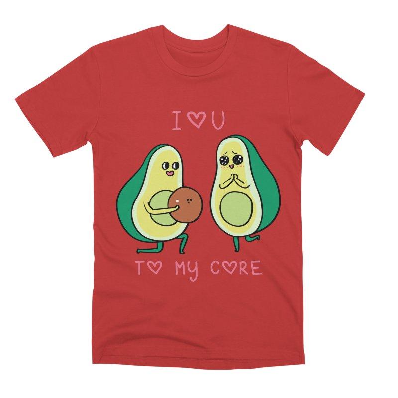 Love U to My Core Avocado Men's Premium T-Shirt by huebucket's Artist Shop