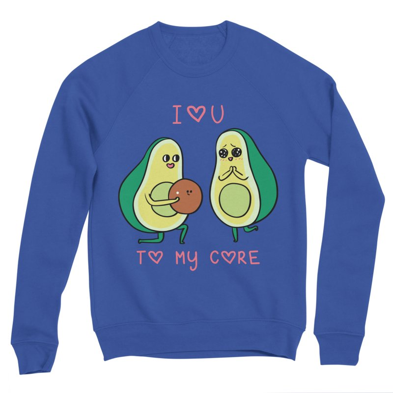 Love U to My Core Avocado Women's Sponge Fleece Sweatshirt by huebucket's Artist Shop
