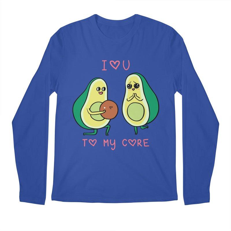 Love U to My Core Avocado Men's Regular Longsleeve T-Shirt by huebucket's Artist Shop