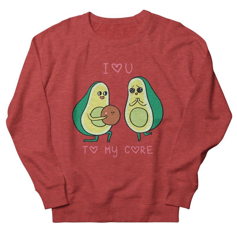 Love U to My Core Avocado Men's French Terry Sweatshirt by huebucket's Artist Shop
