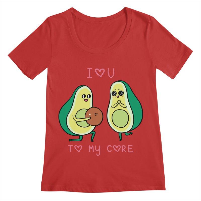Love U to My Core Avocado Women's Regular Scoop Neck by huebucket's Artist Shop