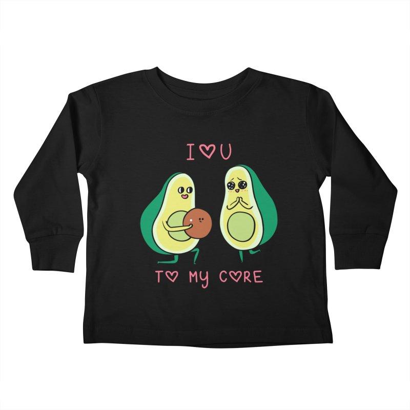 Love U to My Core Avocado Kids Toddler Longsleeve T-Shirt by huebucket's Artist Shop