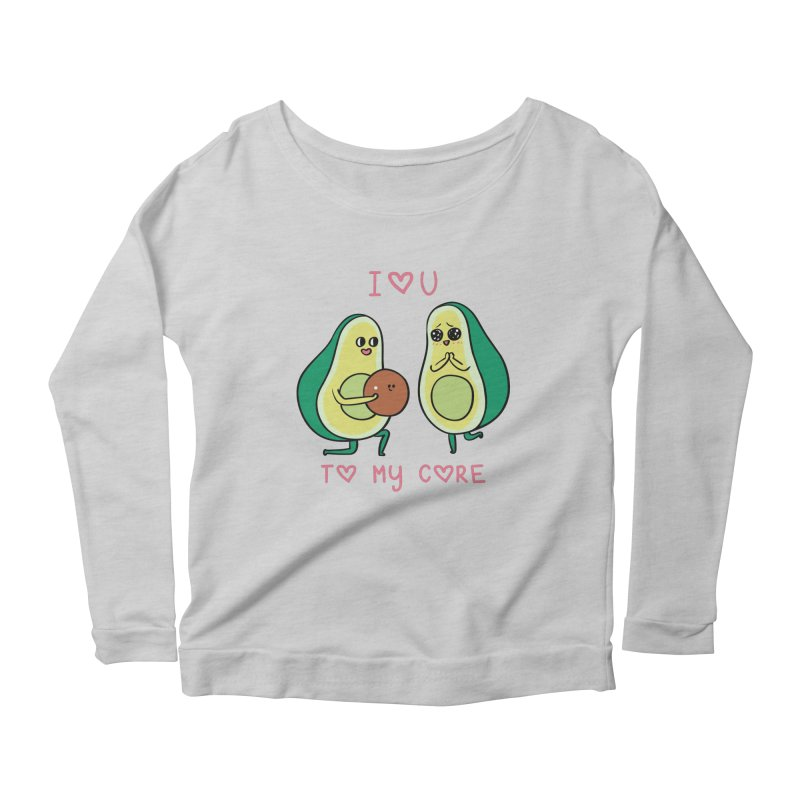 Love U to My Core Avocado Women's Longsleeve T-Shirt by huebucket's Artist Shop