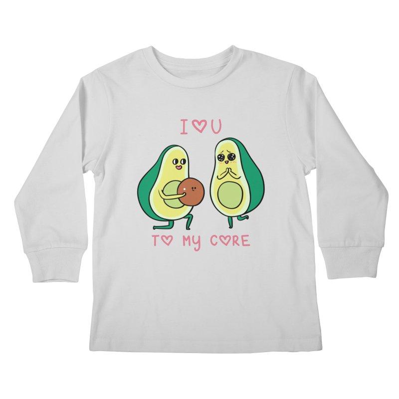 Love U to My Core Avocado Kids Longsleeve T-Shirt by huebucket's Artist Shop