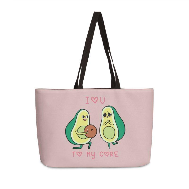 Love U to My Core Avocado Accessories Weekender Bag Bag by huebucket's Artist Shop