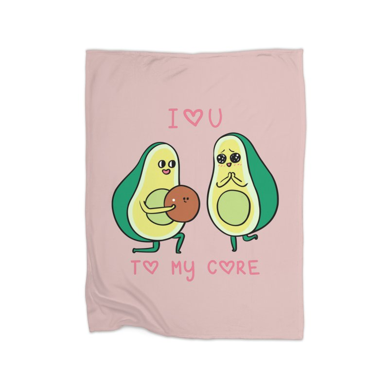 Love U to My Core Avocado Home Blanket by huebucket's Artist Shop