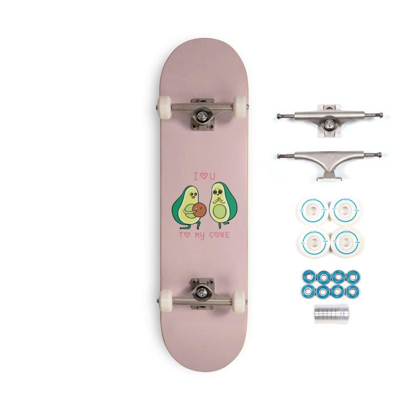 Love U to My Core Avocado Accessories Complete - Basic Skateboard by huebucket's Artist Shop
