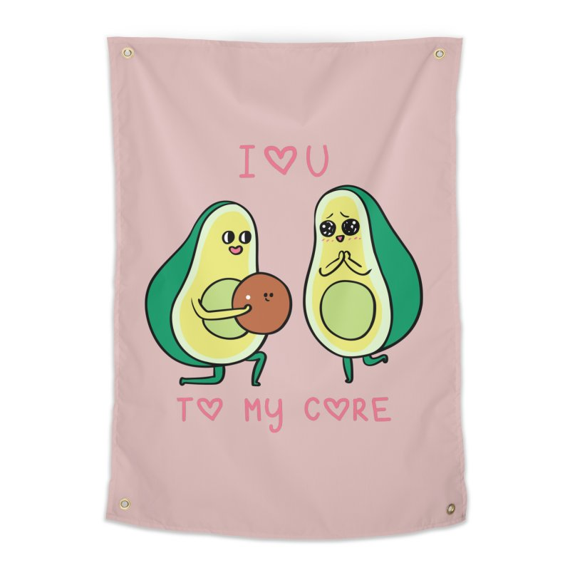 Love U to My Core Avocado Home Tapestry by huebucket's Artist Shop