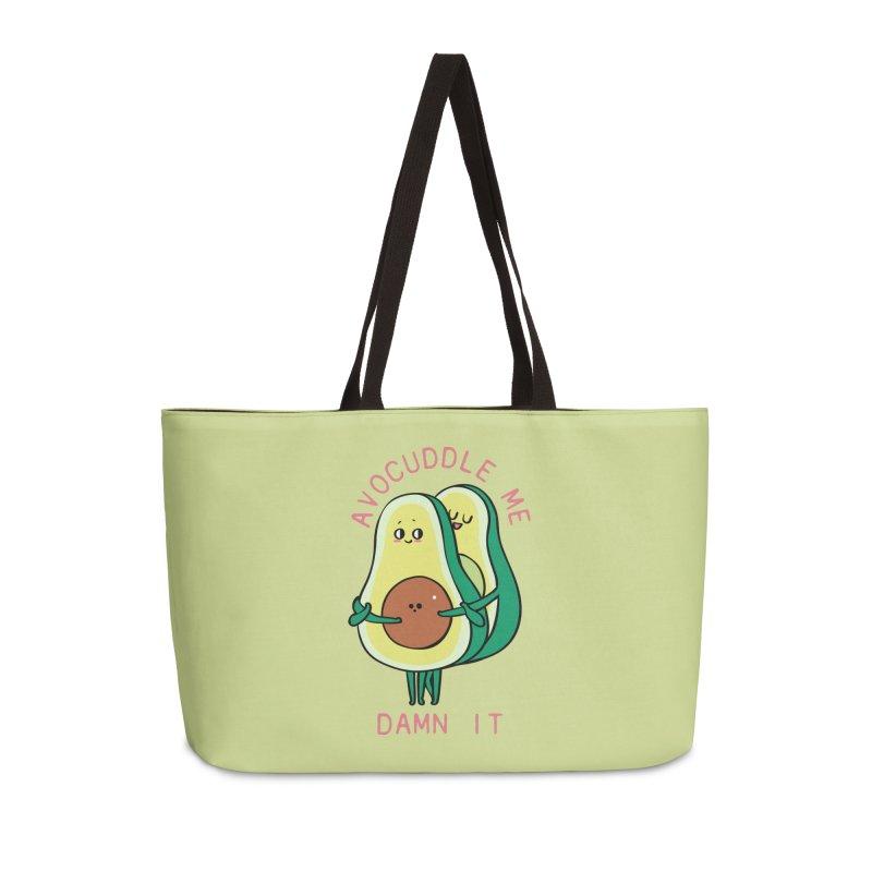 Avocuddle Me Damn It Accessories Weekender Bag Bag by huebucket's Artist Shop