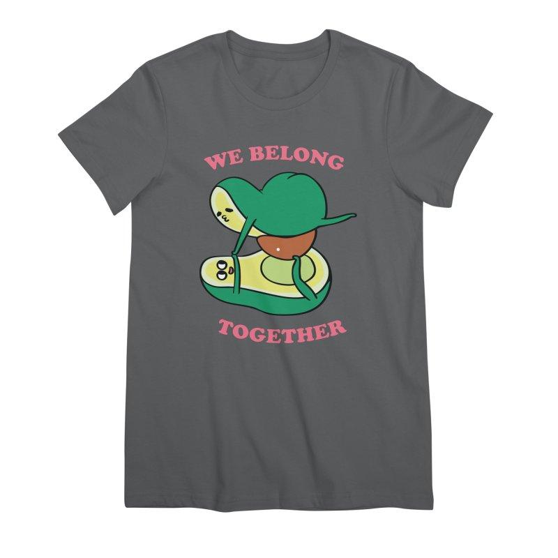 We Belong Together Avocado Yoga Women's Premium T-Shirt by huebucket's Artist Shop