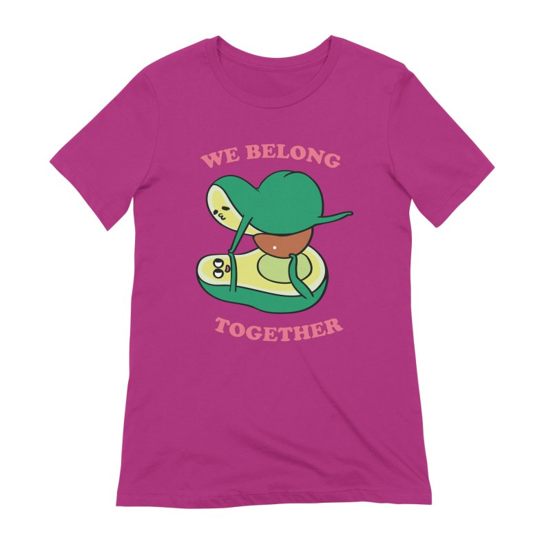 We Belong Together Avocado Yoga Women's Extra Soft T-Shirt by huebucket's Artist Shop