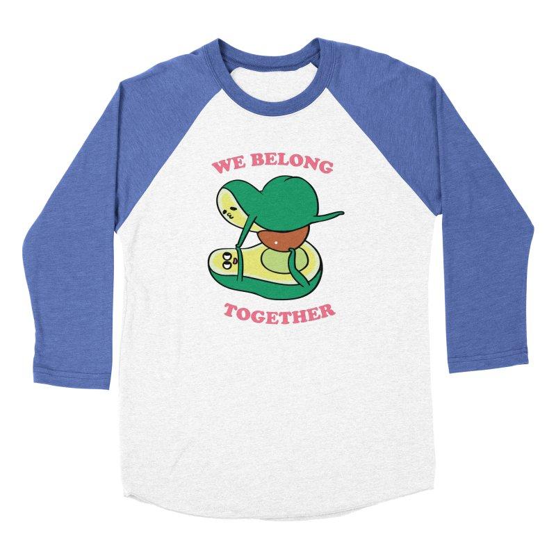 We Belong Together Avocado Yoga Men's Baseball Triblend Longsleeve T-Shirt by huebucket's Artist Shop