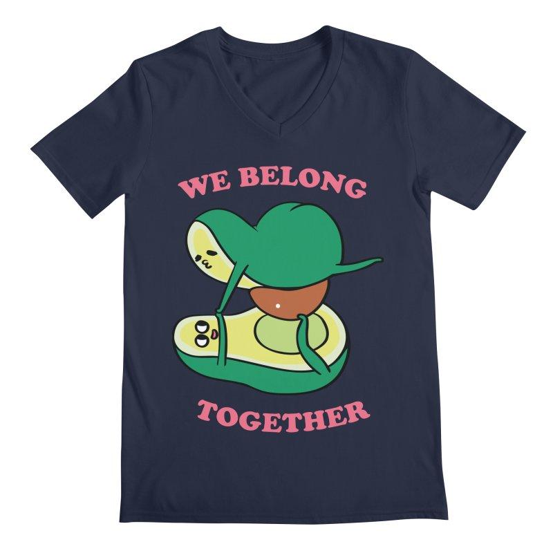 We Belong Together Avocado Yoga Men's Regular V-Neck by huebucket's Artist Shop