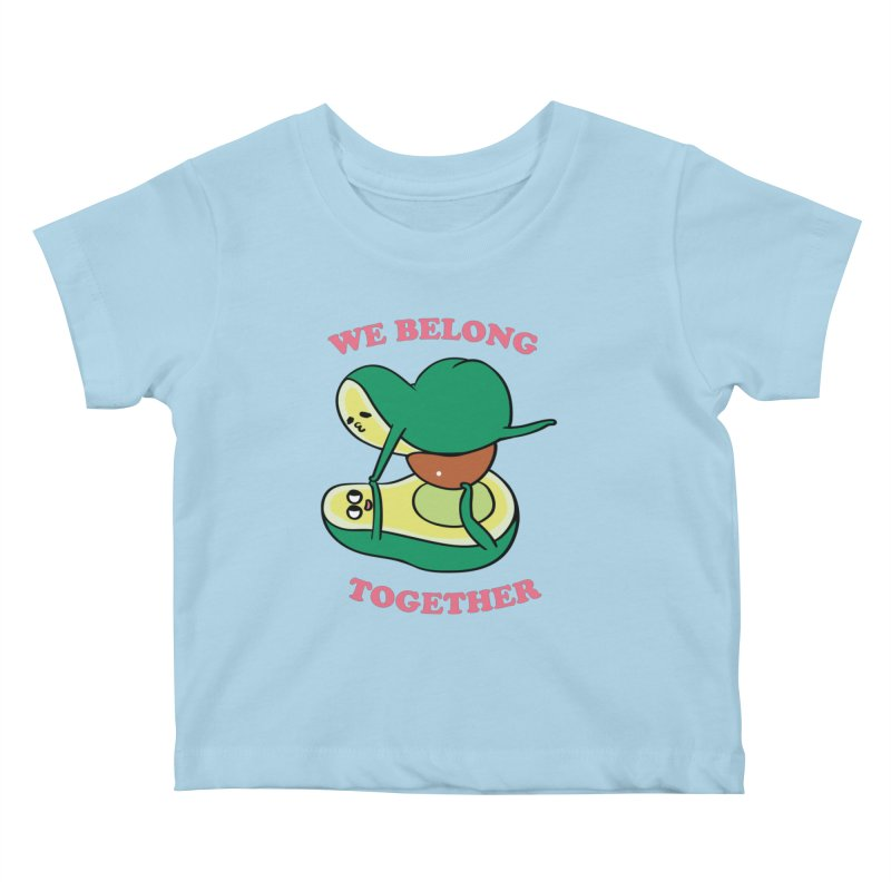 We Belong Together Avocado Yoga Kids Baby T-Shirt by huebucket's Artist Shop