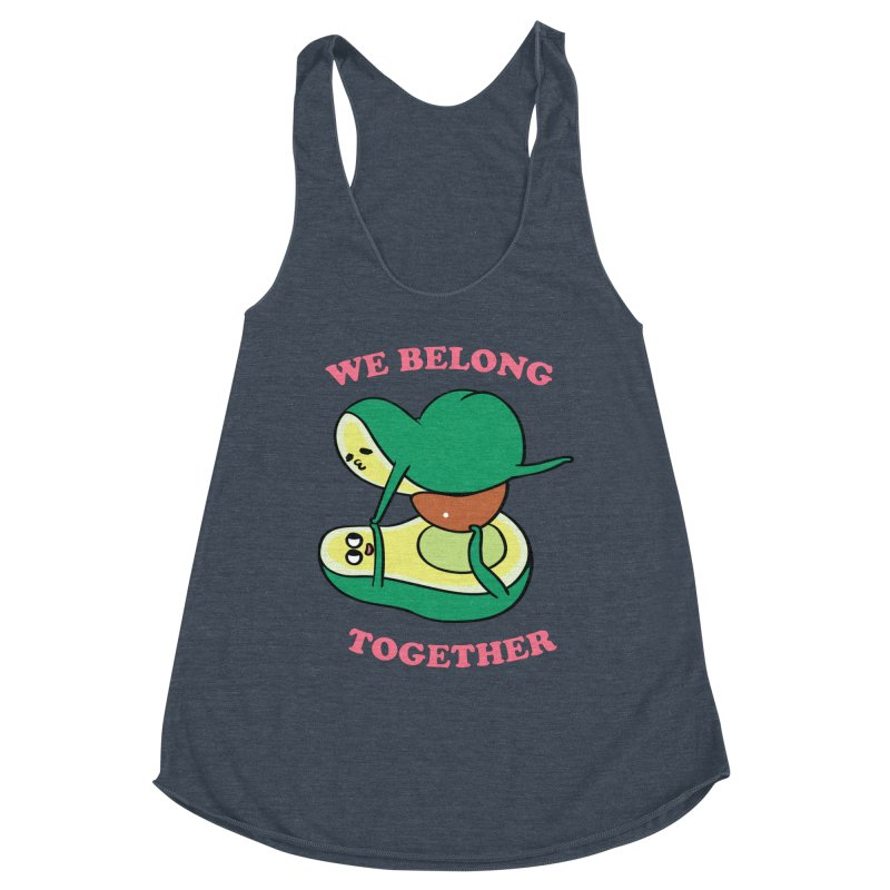 We Belong Together Avocado Yoga Women's Racerback Triblend Tank by huebucket's Artist Shop