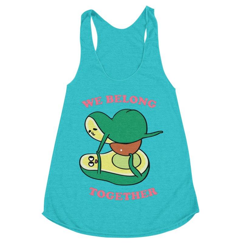 We Belong Together Avocado Yoga Women's Racerback Triblend Tank by huebucket's Artist Shop