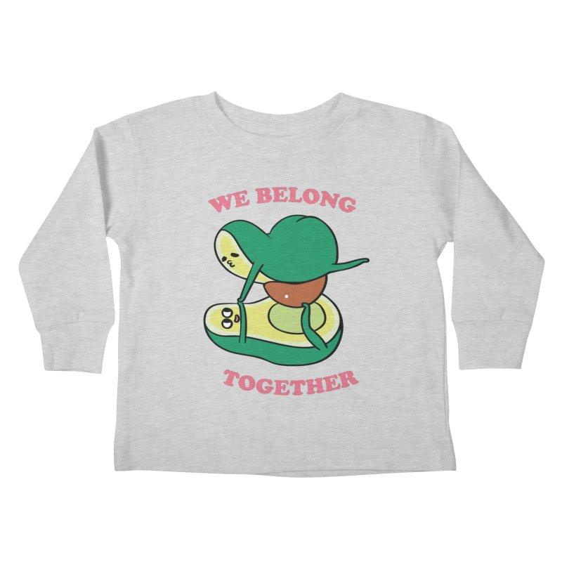 We Belong Together Avocado Yoga Kids Toddler Longsleeve T-Shirt by huebucket's Artist Shop