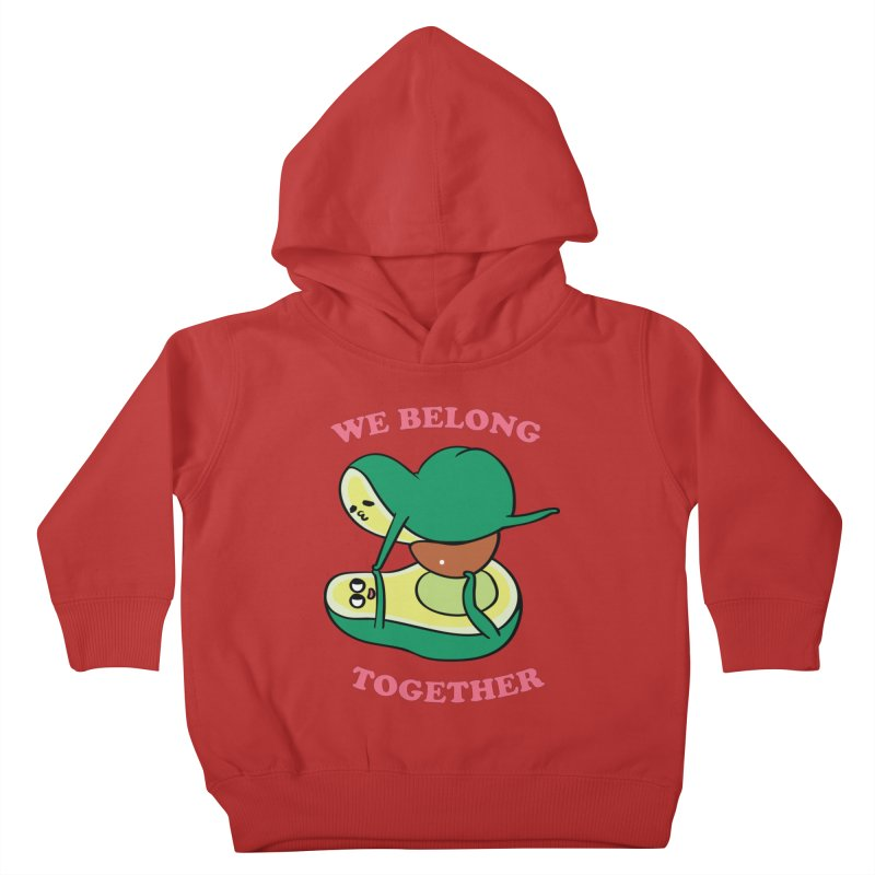 We Belong Together Avocado Yoga Kids Toddler Pullover Hoody by huebucket's Artist Shop
