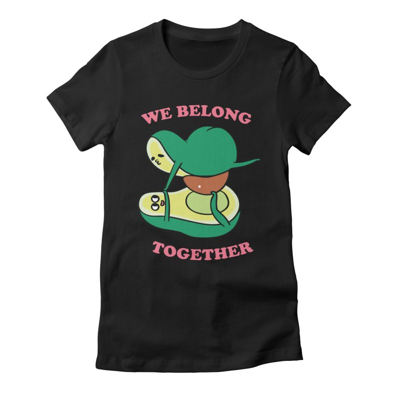 We Belong Together Avocado Yoga Women's Fitted T-Shirt by huebucket's Artist Shop