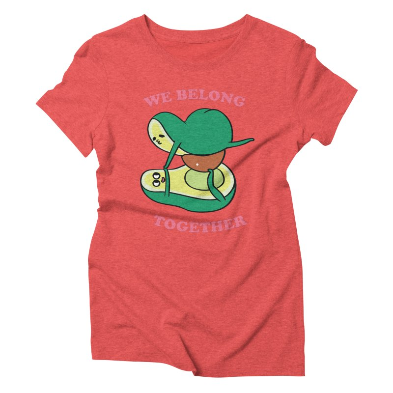 We Belong Together Avocado Yoga Women's Triblend T-Shirt by huebucket's Artist Shop