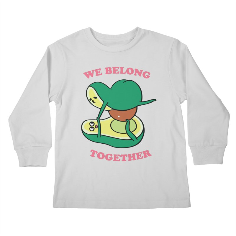 We Belong Together Avocado Yoga Kids Longsleeve T-Shirt by huebucket's Artist Shop