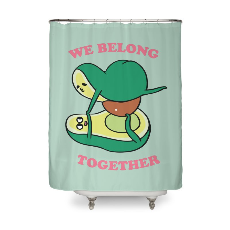 We Belong Together Avocado Yoga Home Shower Curtain by huebucket's Artist Shop