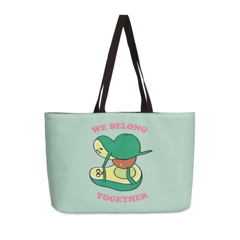 We Belong Together Avocado Yoga Accessories Weekender Bag Bag by huebucket's Artist Shop