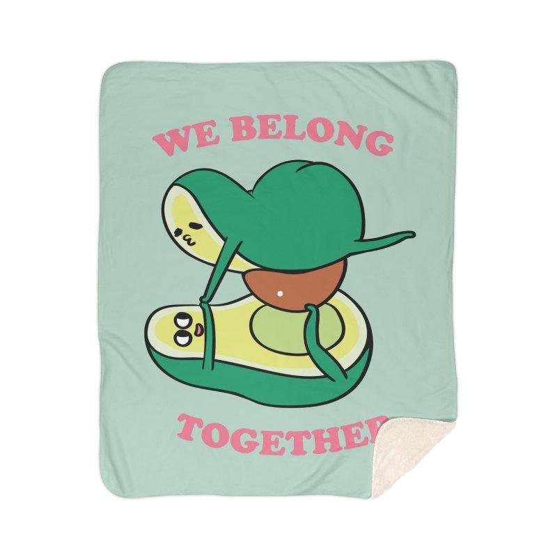 We Belong Together Avocado Yoga Home Sherpa Blanket Blanket by huebucket's Artist Shop