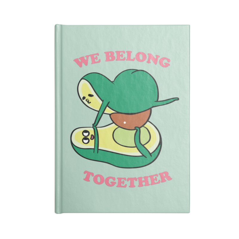 We Belong Together Avocado Yoga Accessories Lined Journal Notebook by huebucket's Artist Shop