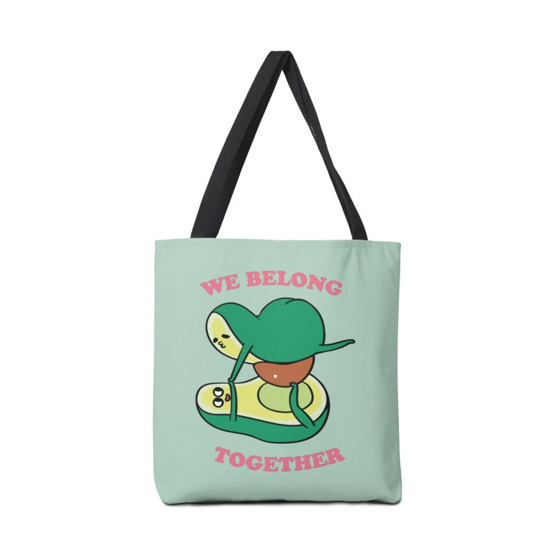We Belong Together Avocado Yoga Accessories Bag by huebucket's Artist Shop