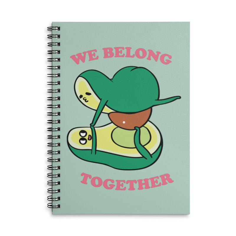 We Belong Together Avocado Yoga Accessories Lined Spiral Notebook by huebucket's Artist Shop