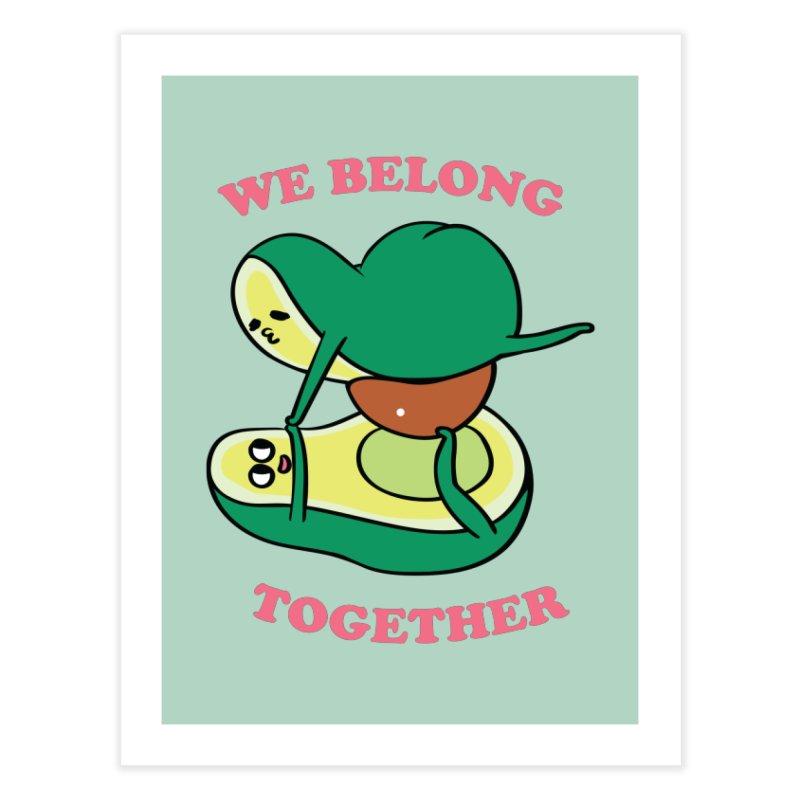 We Belong Together Avocado Yoga Home Fine Art Print by huebucket's Artist Shop
