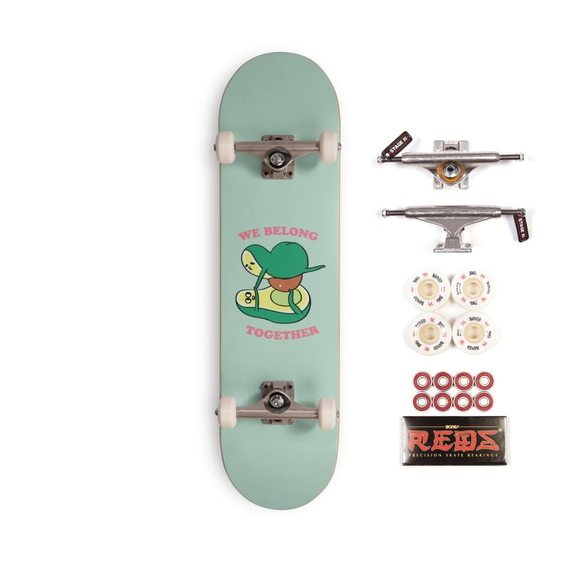 We Belong Together Avocado Yoga Accessories Complete - Pro Skateboard by huebucket's Artist Shop
