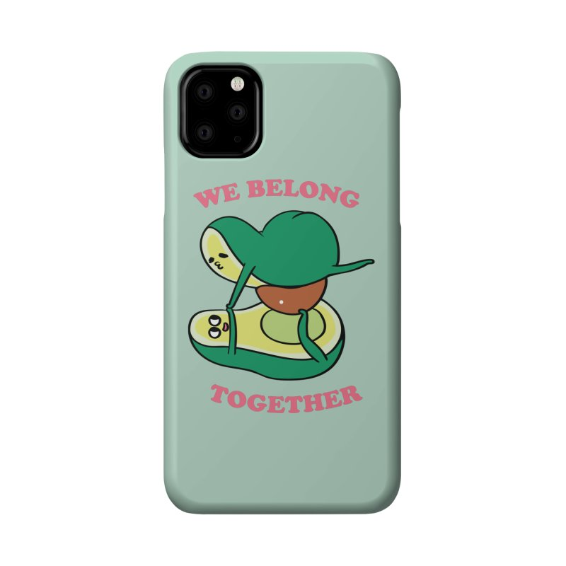 We Belong Together Avocado Yoga Accessories Phone Case by huebucket's Artist Shop