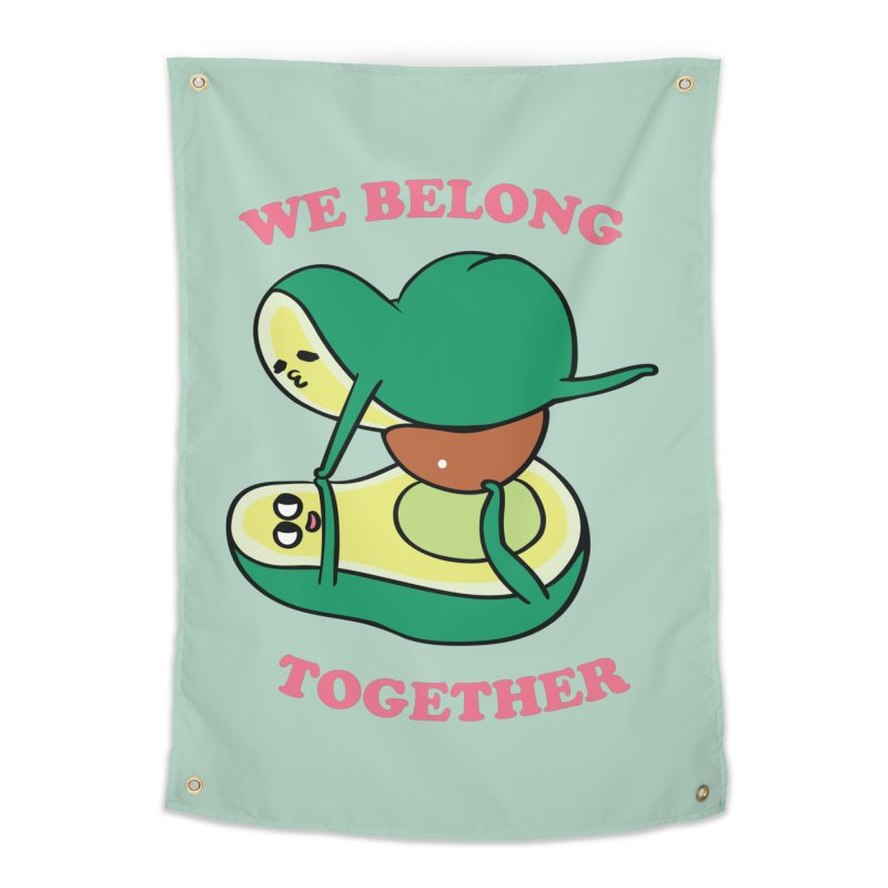 We Belong Together Avocado Yoga Home Tapestry by huebucket's Artist Shop