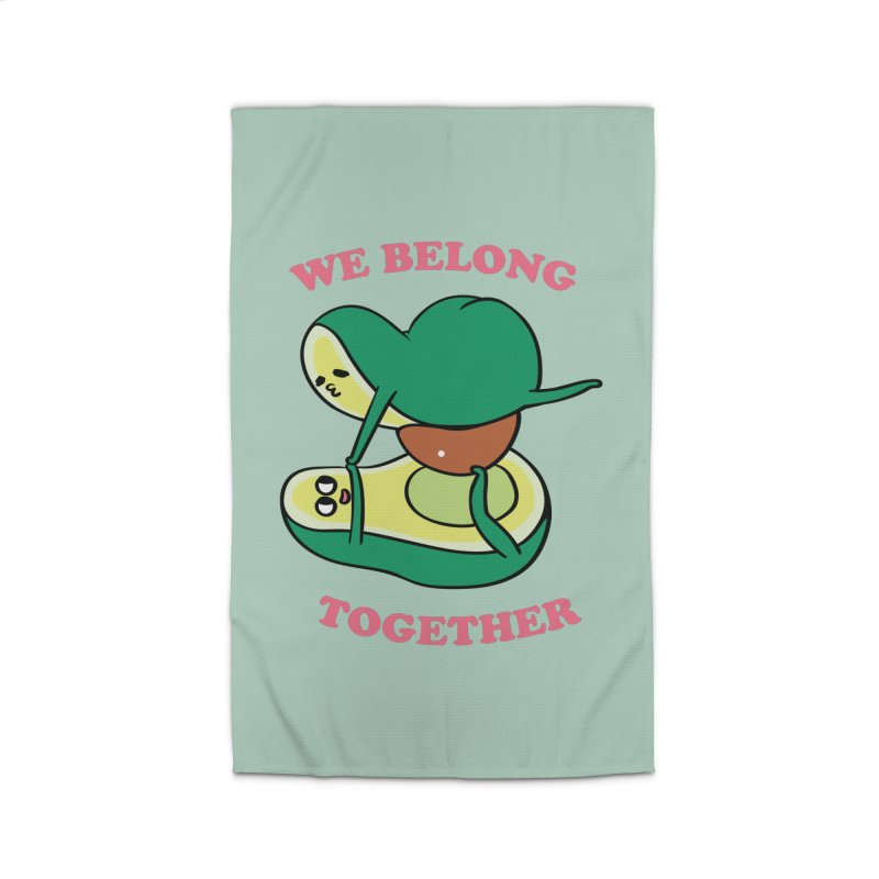 We Belong Together Avocado Yoga Home Rug by huebucket's Artist Shop