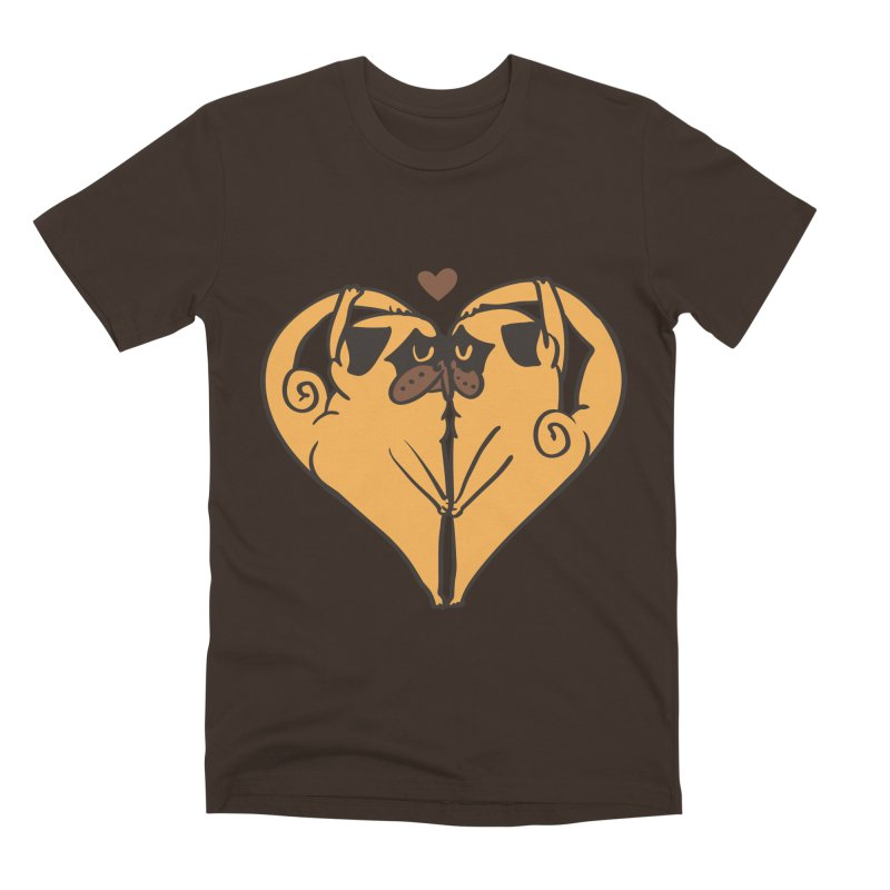 Stretching and Love Men's Premium T-Shirt by huebucket's Artist Shop