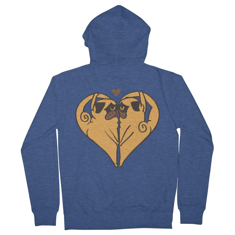 Stretching and Love Women's French Terry Zip-Up Hoody by huebucket's Artist Shop