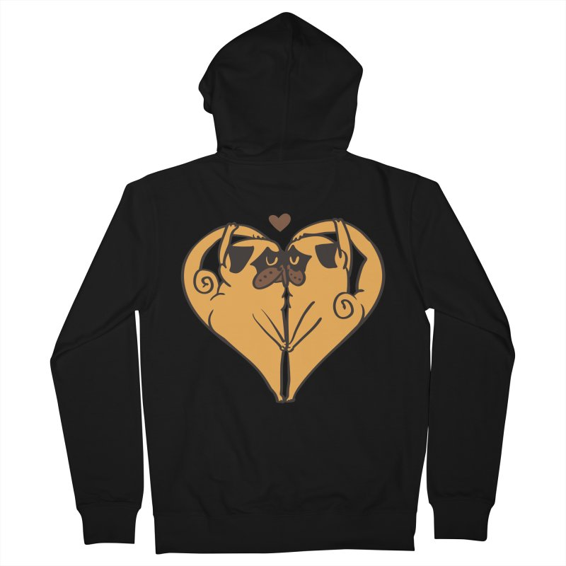 Stretching and Love Men's French Terry Zip-Up Hoody by huebucket's Artist Shop