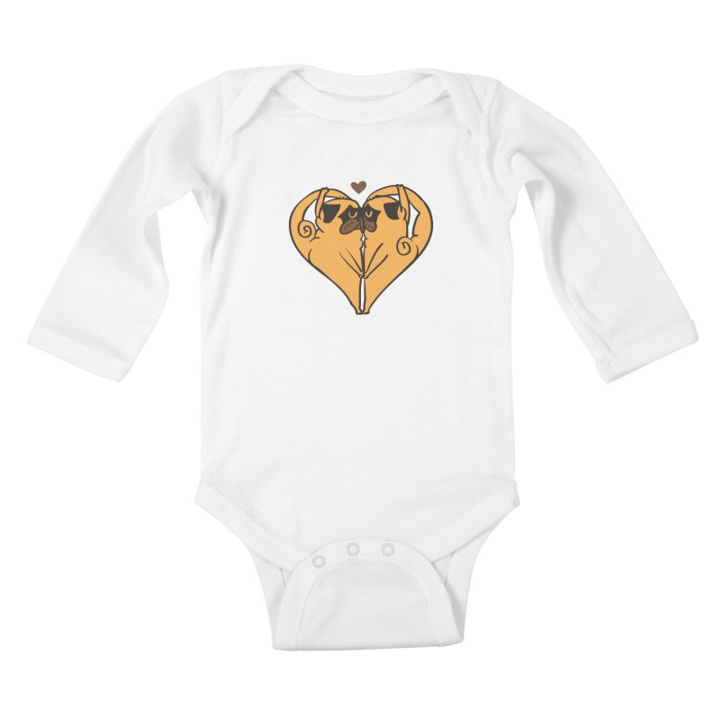 Stretching and Love Kids Baby Longsleeve Bodysuit by huebucket's Artist Shop