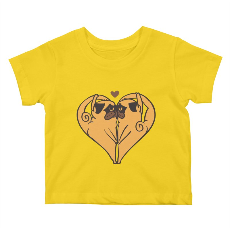 Stretching and Love Kids Baby T-Shirt by huebucket's Artist Shop