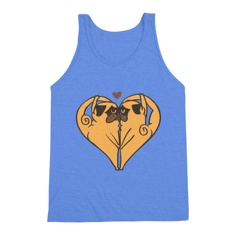 Stretching and Love Men's Triblend Tank by huebucket's Artist Shop