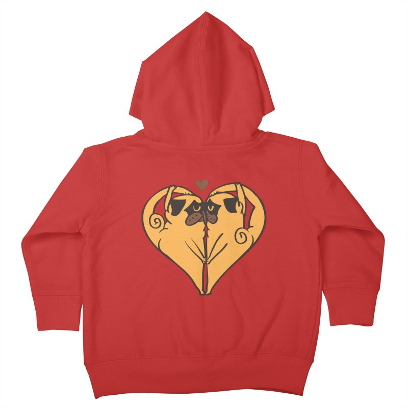 Stretching and Love Kids Toddler Zip-Up Hoody by huebucket's Artist Shop
